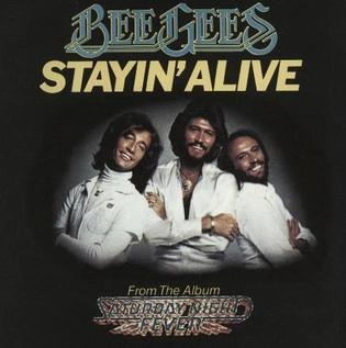 Lyrics to staying alive by bee gees