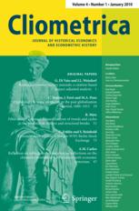 <i>Cliometrica</i> journal