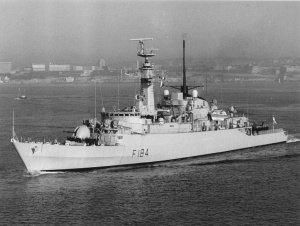 HMS <i>Ardent</i> (F184) Royal Navy frigate of the Type 21, Amazon Class