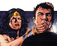 Wonder Woman kills Maxwell Lord.Art by Phil Jimenez.