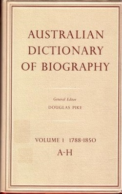 <i>Australian Dictionary of Biography</i> Dictionary of Biographies