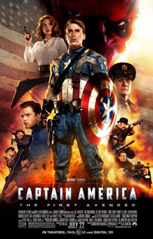 Captain America: The First Avenger (2011) (In Hindi) SL DM - Chris Evans, Tommy Lee Jones, Hugo Weaving, Hayley Atwell, Sebastian Stan, Dominic Cooper, Neal McDonough, Derek Luke, and Stanley Tucci