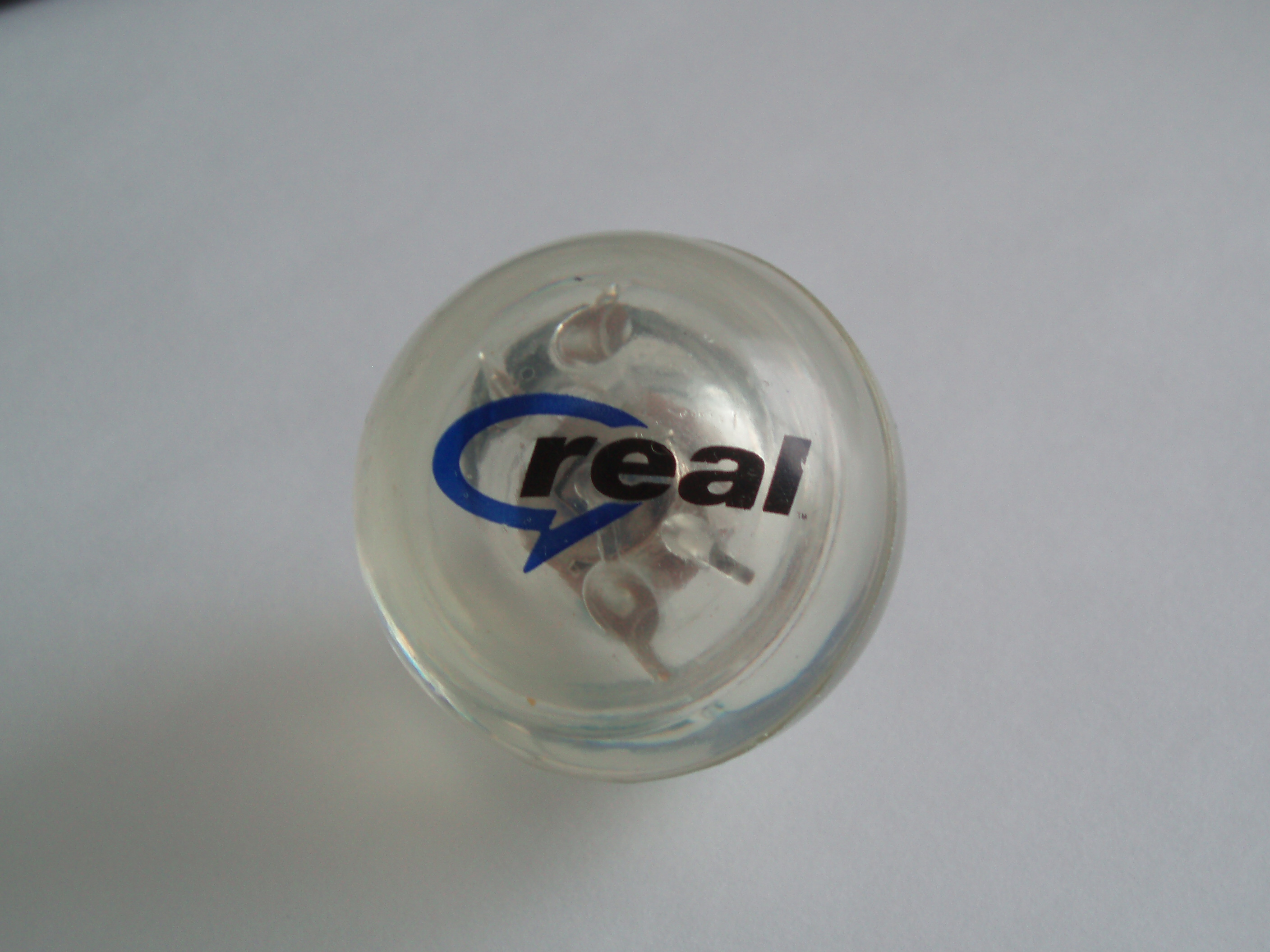 Promotional merchandise with the RealNetworks logo