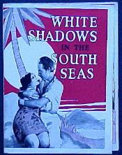 Blankaj Ombroj en la Suda Maro - 1928 teatra poster.jpg
