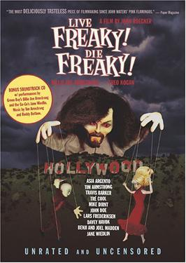 The DVD cover for the unrated version of Live Freaky! Die Freaky!