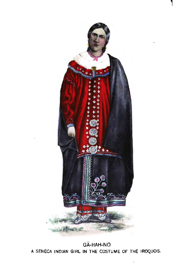 Seneca woman in traditional dress