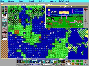 O jogo Sim Earth. Lembrando que ele é de 1990...