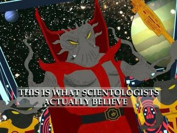 Lord Xenu on South park