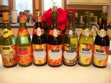 Vertical of Duboeuf Nouveau Beaujolais Bottles.jpg