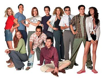 Characters From The Series Left To Right Vicky Heather Chris Oz Ostreicher Michelle Flaherty Steve Stifler Kevin Myers Paul Finch Jessica