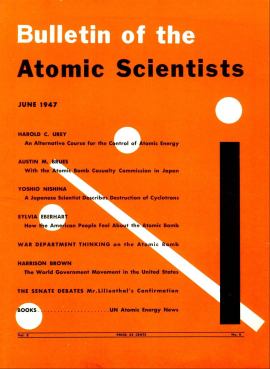 Cover of the 1947 Bulletin of the Atomic Scien...