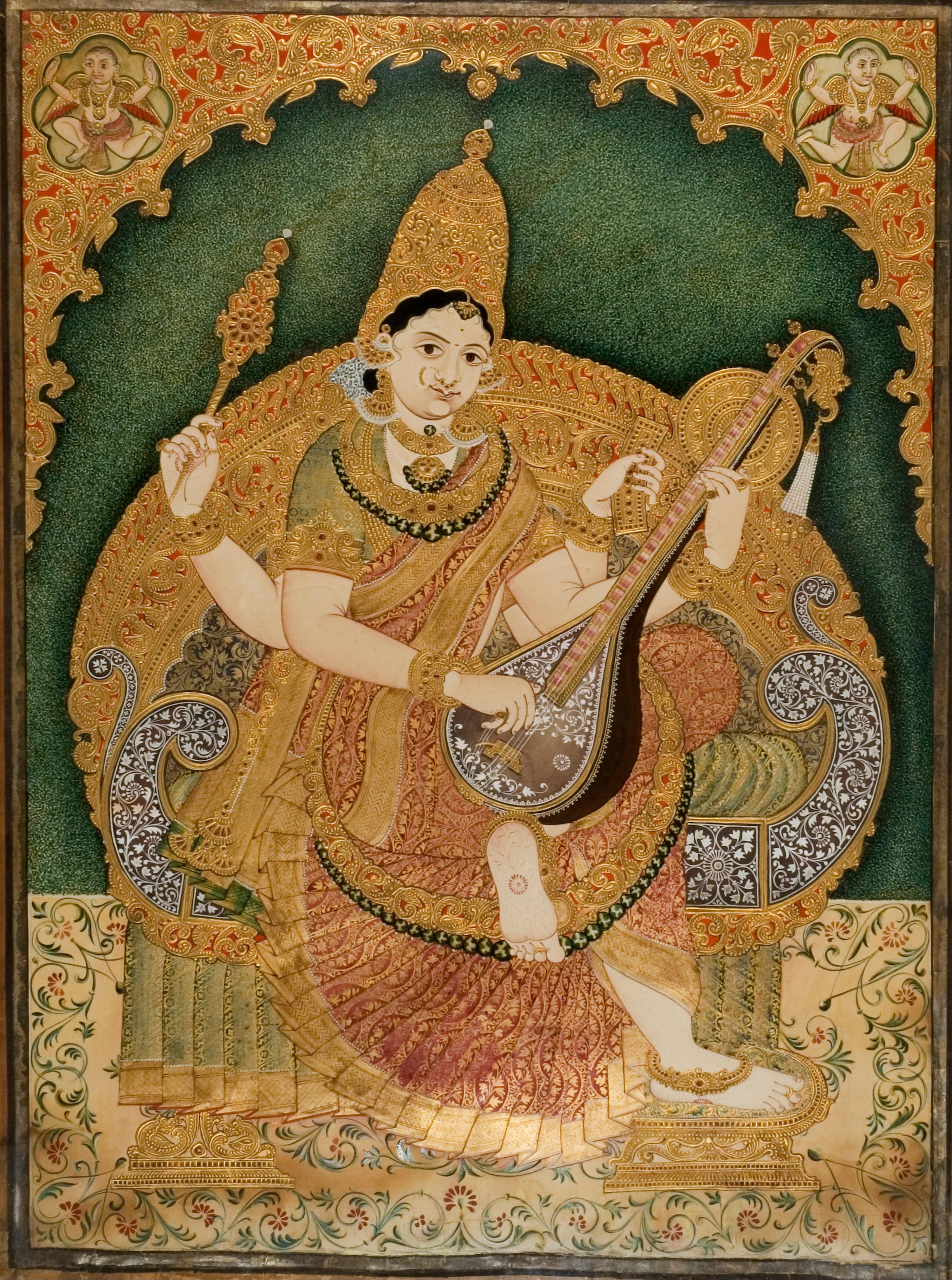 Chitragara Krishnappa, Saraswati, ca. 1800/1900, National Gallery Of Modern Art, New Delhi, India. Mojarto.