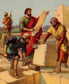 Nehemiah rebuilding Jerusalem