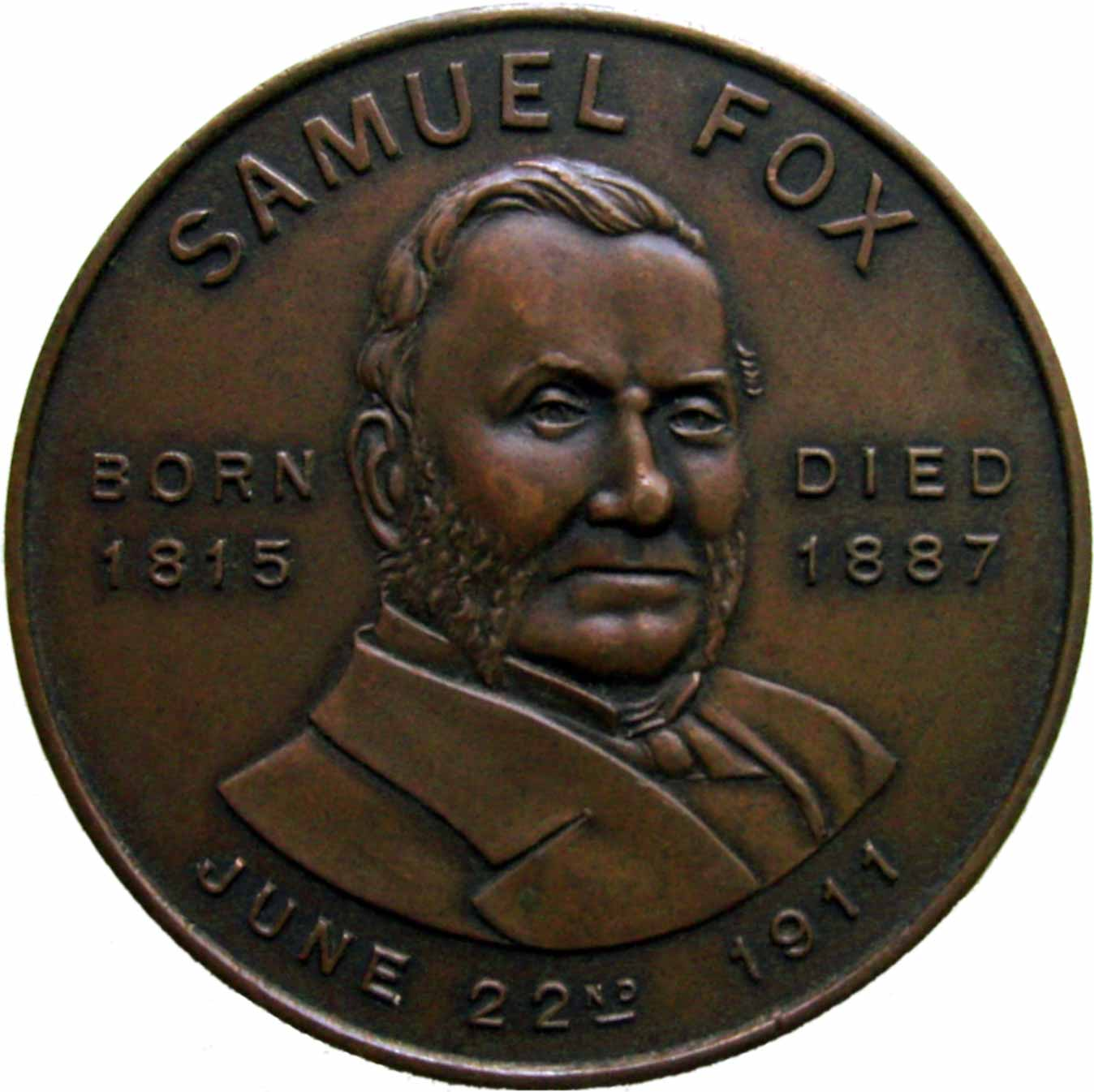 Image result for samuel Fox coin
