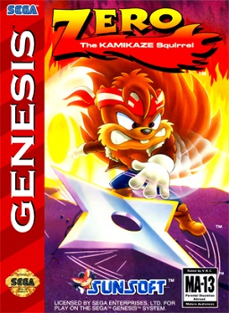 Box art for Zero the Kamikaze Squirrel