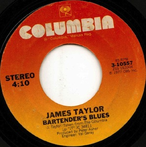 Bartenders Blues (song) 1977 song performed by James Taylor