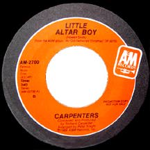 Little Altar Boy 1984 single by The Carpenters