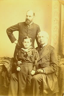 John Gregory Crace, designer, with his son and grandson.jpg