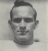 A headshot of Bill Lund from a 1946 Cleveland Browns game program