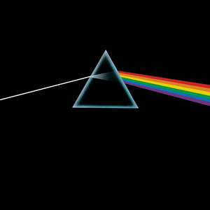 Pink Floyd's Dark Side of the Moon album cover.