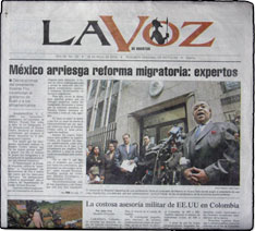 Spanish weekly newspaper in Houston by the Houston Chronicle
