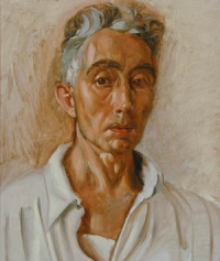 "Pierre Daura, ""Self Portrait in White"", oil on canvas"