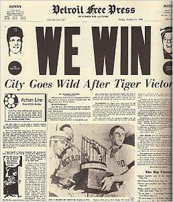 Detroit Tigers 1968 World Series