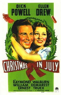 Film poster for Christmas in July - Copyright ...