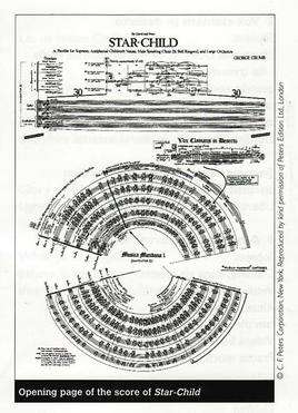George Crumb. Star-Child, 1977.