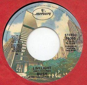 Titelbild des Gesangs Limelight von Rush