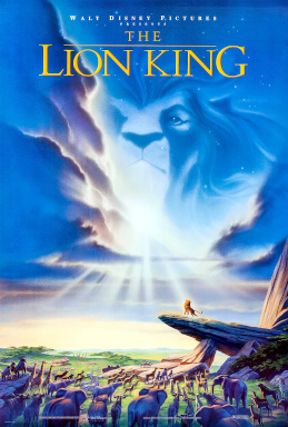 This is a poster for The Lion King. The poster art copyright is believed to belong to Walt Disney Pictures.