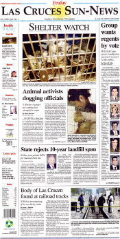 Las Cruces Sun News front page 2008-07-25.jpg
