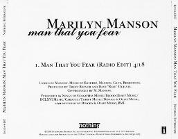 Man That You Fear 1997 single by Marilyn Manson