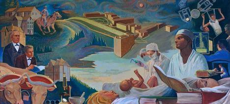 File medical education mural by john sherrill houser 1967 for Education mural