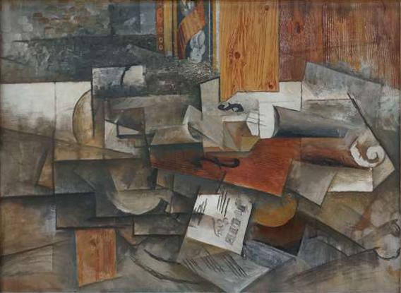 File Pablo Picasso 1912 Le Violon Jolie Eva Oil On