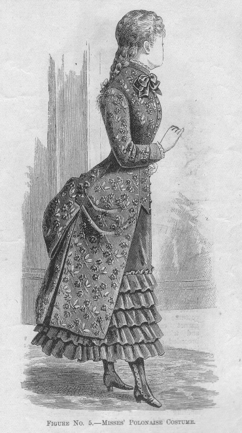 Image result for polonaise dress 19 century