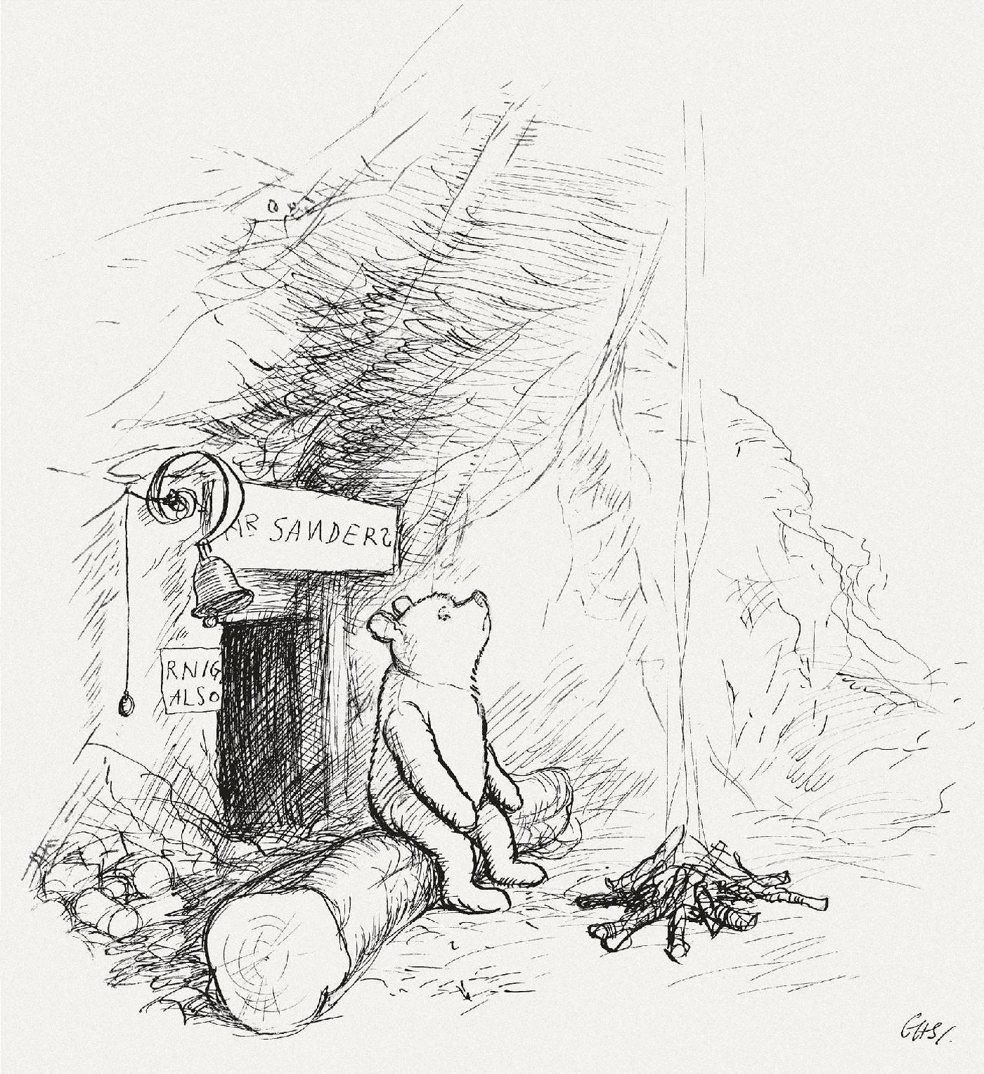 Original drawing by E. H. Shepard.