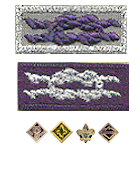Youth Religious Award Patch Square Knot Emblem Boy Scouts of America BSA Purple