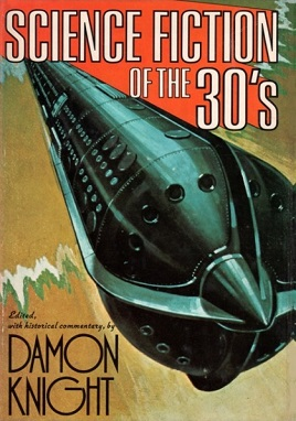 Cover illustration of science fiction of the thirties