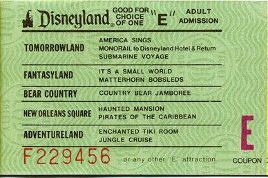 graphic regarding Disneyland Printable Coupons titled E ticket - Wikipedia