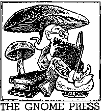 first logo for Gnome Press designed by David A. Kyle