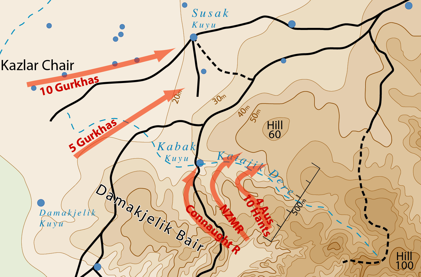 Battle of hill 60 gallipoli wikipedia starting positions and projected advance for 21 august 1915 gumiabroncs Image collections