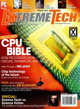 The spring 2005 edition of ExtremeTech magazine Magazine cover spring 2005.jpg