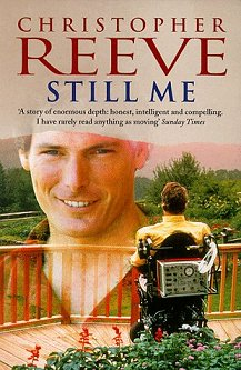 Christopher Reeve on the cover of his autobiog...