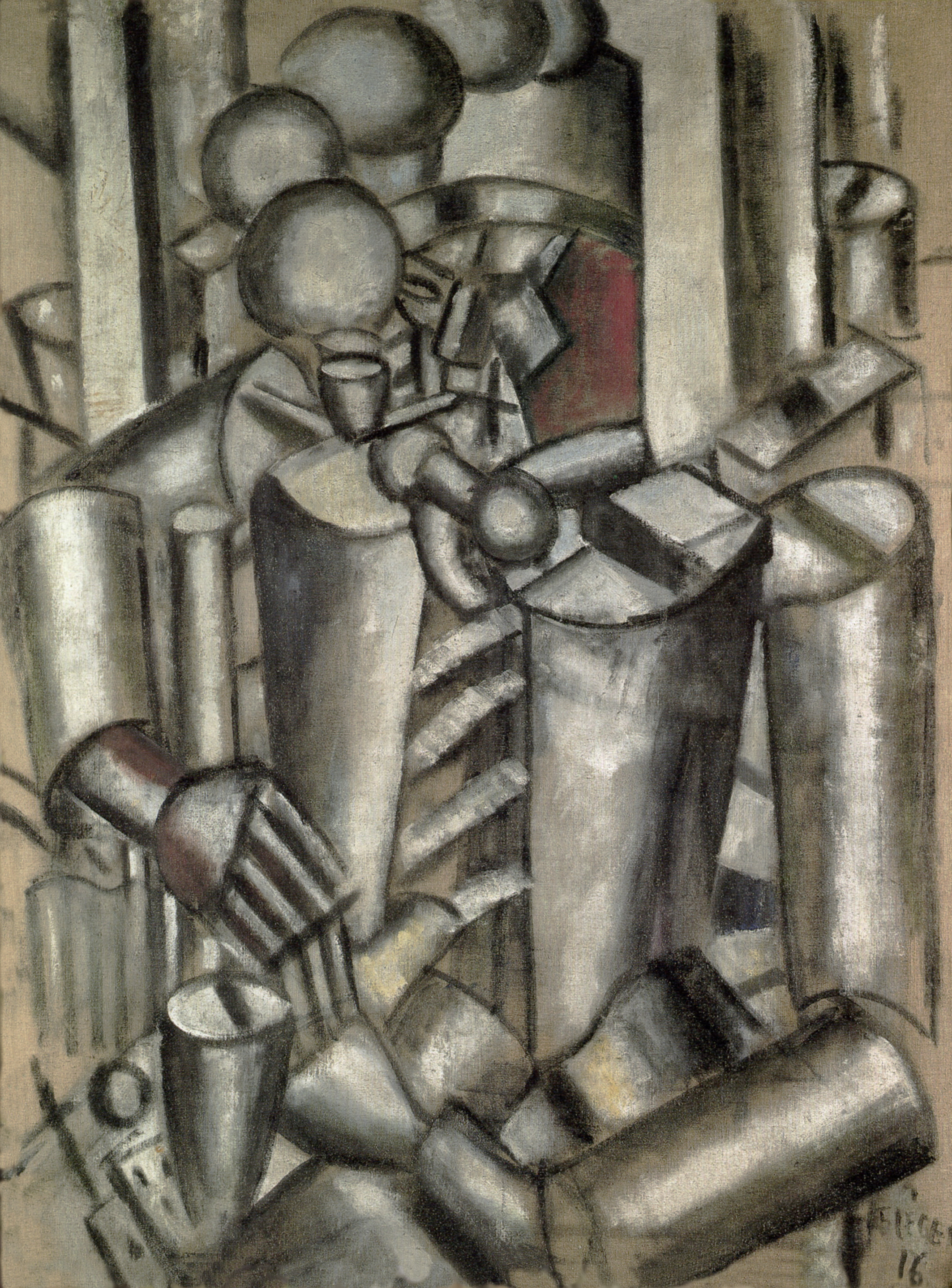 file fernand léger 1916 soldier with a pipe le soldat à la pipe