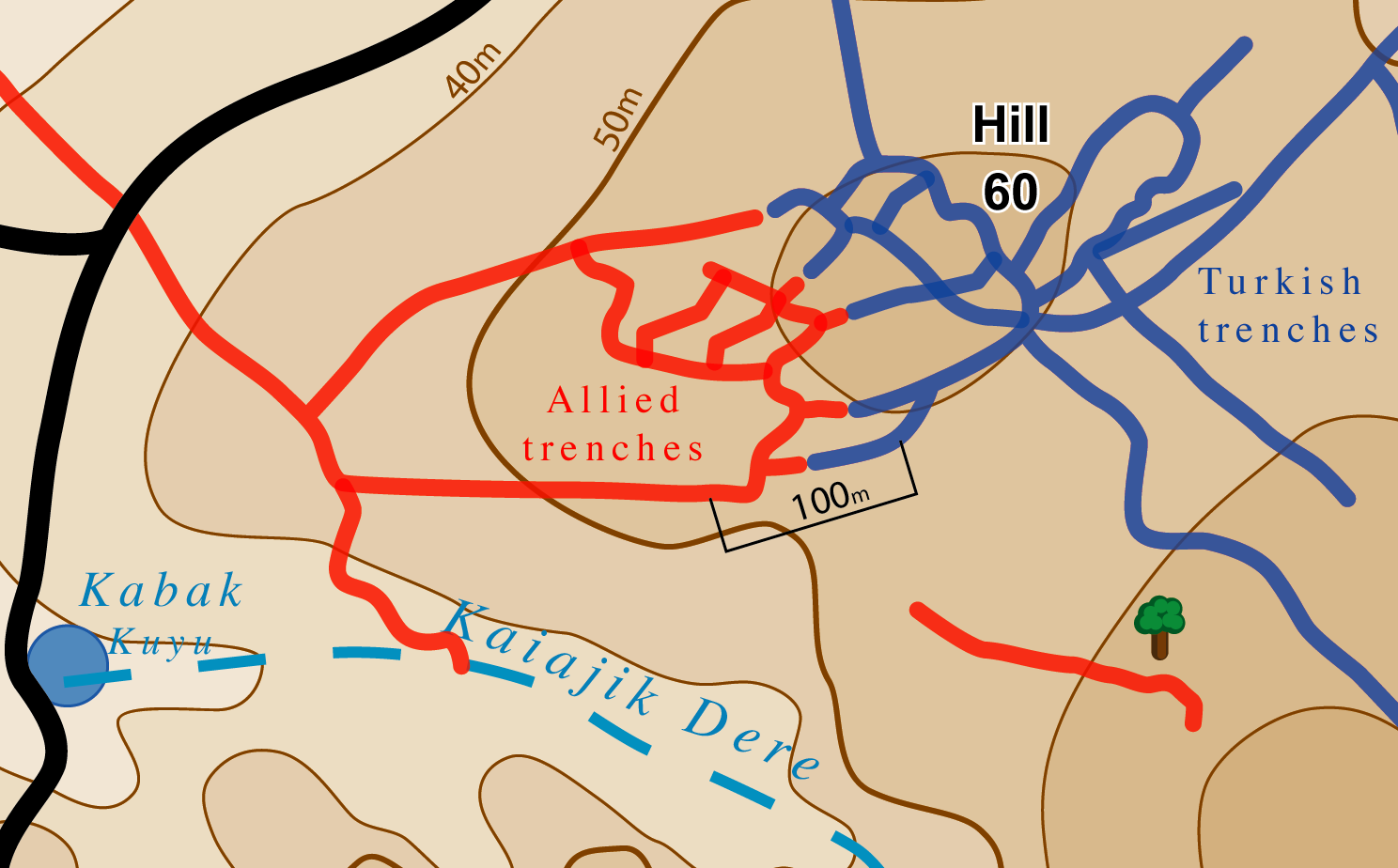 Battle of hill 60 gallipoli wikipedia situation of allied and turkish forces at 29 august gumiabroncs Image collections