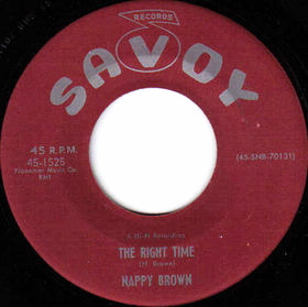 Night Time Is the Right Time Song recorded by Nappy Brown in 1957 & popularized by Ray Charles