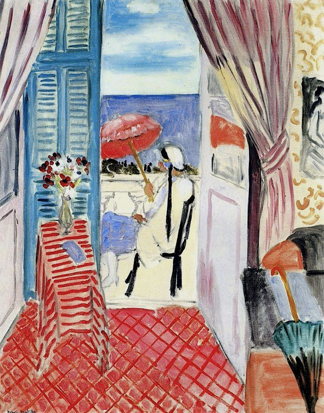 File:Henri Matisse, 1919-21, Woman with a Red Umbrella ... Henri Matisse Woman Reading