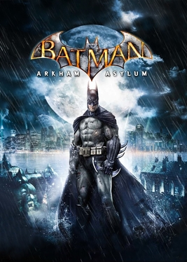 Official poster of Batman: Arkham Asylum game launched in 2009 by Rocksteady Studios.