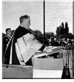Franklin D. Roosevelt speaking at Queen's University.